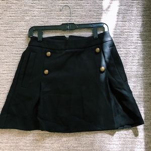 Express Black Skirt With Buttons (Size 6)